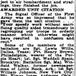 An article on the 40th Battalion from the Pittsburgh Courrier - March 7 1945download this article in PDF