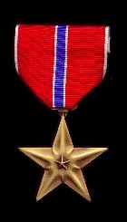 The Bronze Star was issued to Captain George F. Westerman, 0362748, Signal Corps, US Army, for meritorious service in connection with military operations from November 1944 to March 1945 as Commanding Officer of Headquarters and Headquarters Detachment 40th Signal Light Construction Battalion.