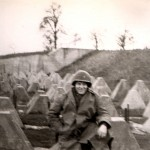 Posing at the Siegfried Line - 1945